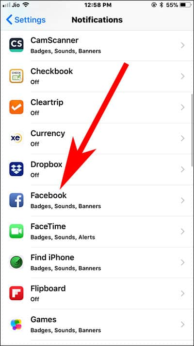 Choose Any App from Notification Page on iPhone and iPad