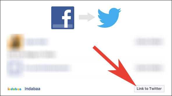 Click on Link to Twitter to Connect Facebook Page to Twitter Account