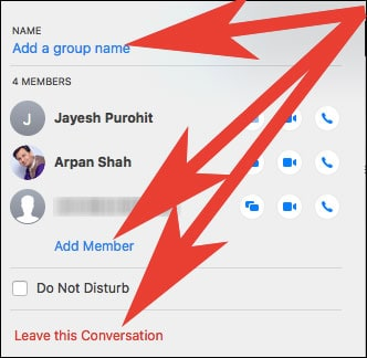 Create Group in Message App on Mac