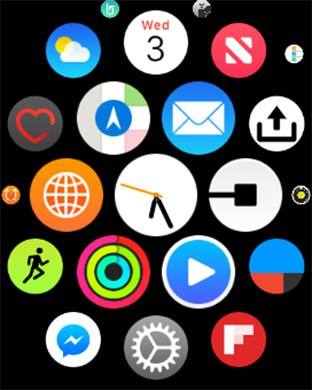 Long Press on Apple Watch Screen