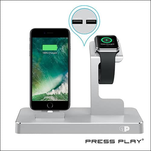 PressPlay Apple Watch and iPhone Charging Dock