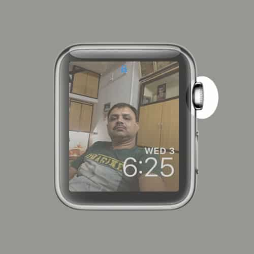 Tap on Digital Crown on Apple Watch
