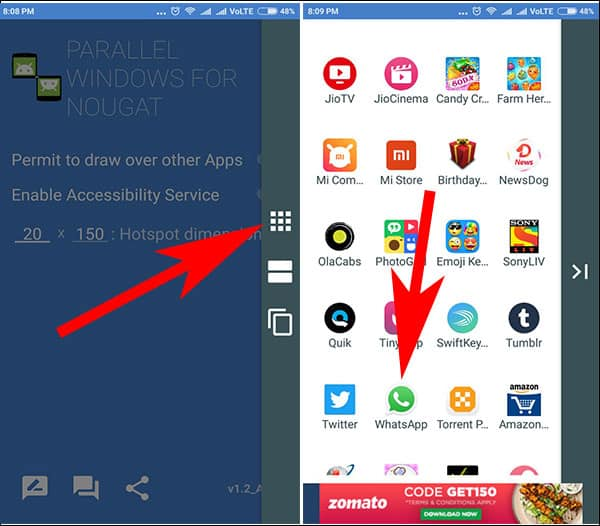 Tap on Split Screen and Choose Any Supported App in Your Android Phone