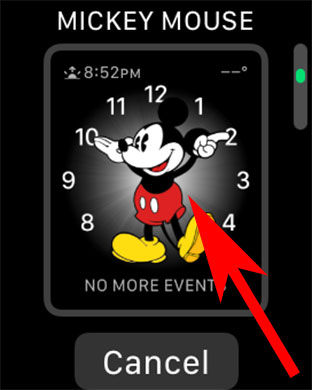 Tap on Watch Face to Set Apple Watch Face