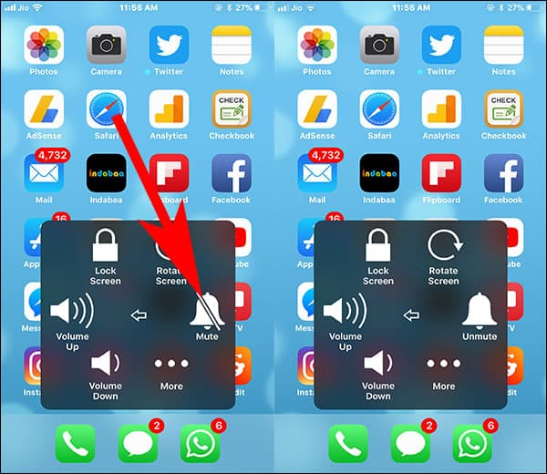 Use Assistive Touch to Mute iPhone