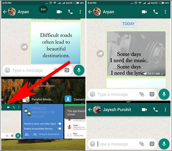 Use Same App in Split Screen on Android Oreo or Nougat