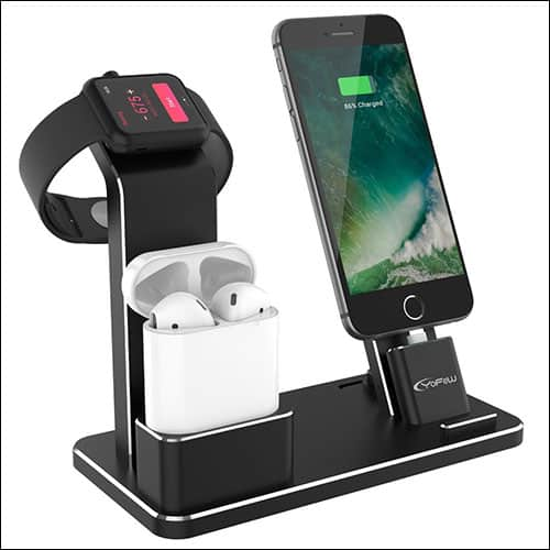 YoFew Apple Watch, iPhone and AirPods Charging Dock