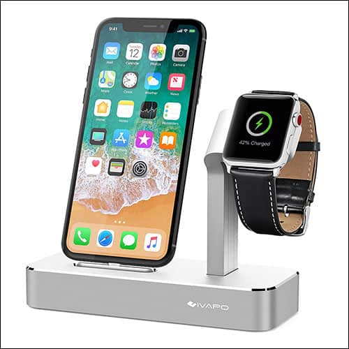 iVAPO Apple Watch Series 3 and iPhone Charging Dock