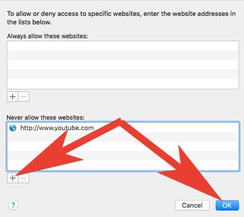 Block Parental Control Websites in Safari Browser on Mac