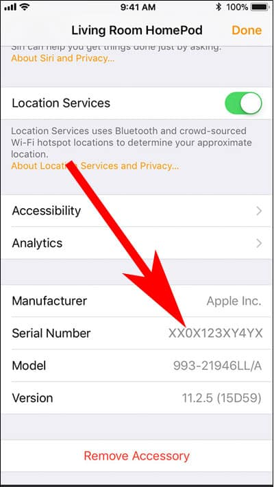 How to Find HomePod Serial Number from Home App