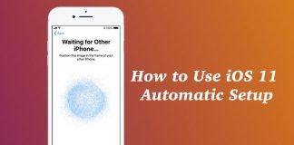 How to Use Automatic Setup in iOS 11 to Set Up Your New iPhone