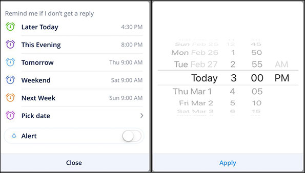 Schedule an Email on iPhone and iPad Using Spark App