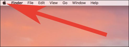 Click on Apple logo on Mac  - Click on Apple logo on Mac - App Got Stuck on Mac? How to Force Quit Apps on Mac