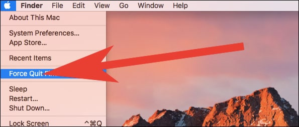 Click on Force Quit in Apple Menu on Mac  - Click on Force Quit in Apple Menu on Mac - App Got Stuck on Mac? How to Force Quit Apps on Mac