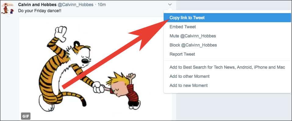 Copy Twitter Link on Windows PC or Mac
