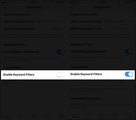 Enable Manual Filter in Instagram on iPhone and iPad  - Enable Manual Filter in Instagram on iPhone and iPad - How to Hide Inappropriate Comments in Instagram on iPhone and iPad