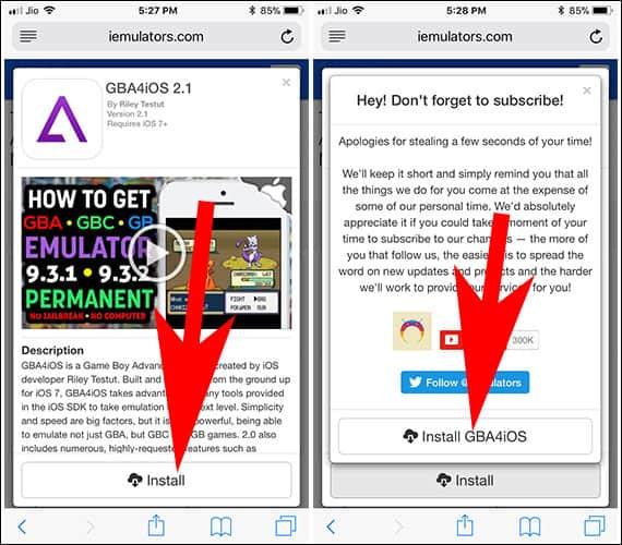 Install GBA4iOS 2.1 on iPhone