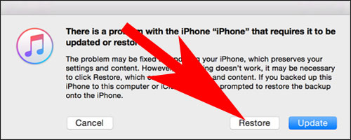 Restore iPhone Using Recovery Mode