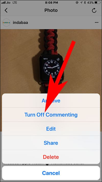 Turn Off Comments in Instagram Post on iPhone and Android