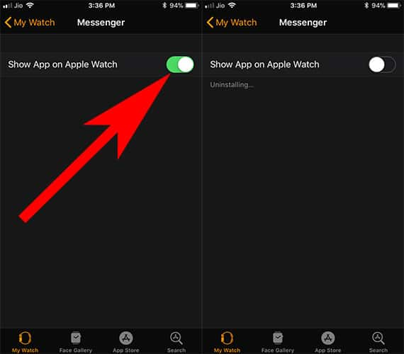 Uninstall App from Apple Watch Using iPhone