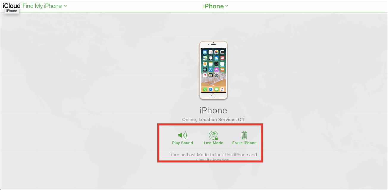 Find My iPhone Using iCloud