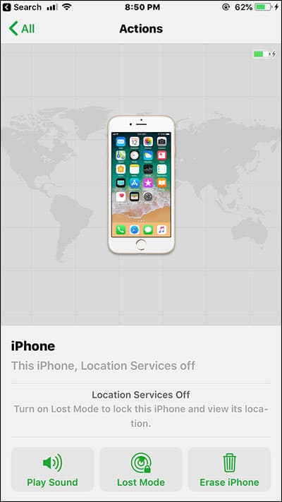 Use Find My iPhone on iPhone and iPad