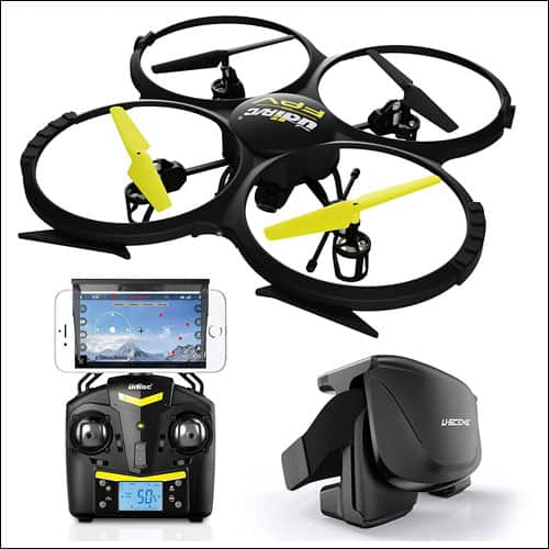 Force1 UDI U818A Wi-Fi FPV Drone with HD Camera