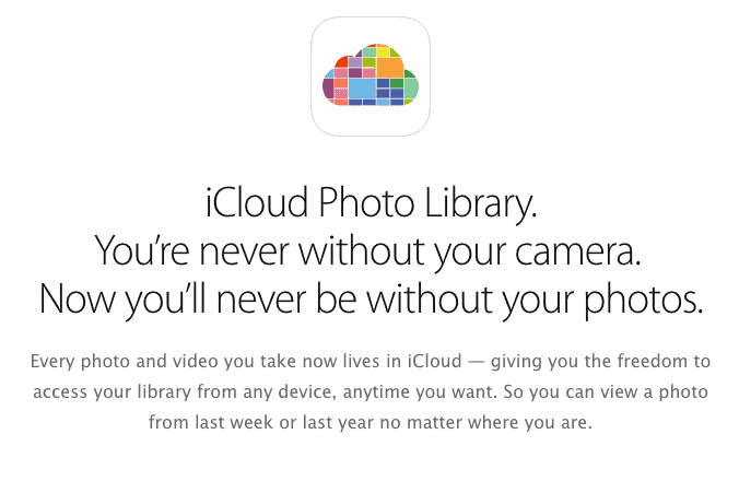 iCloud Photo Library and Google Photos