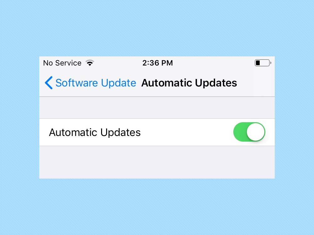 iOS 12 Automatic Downloads