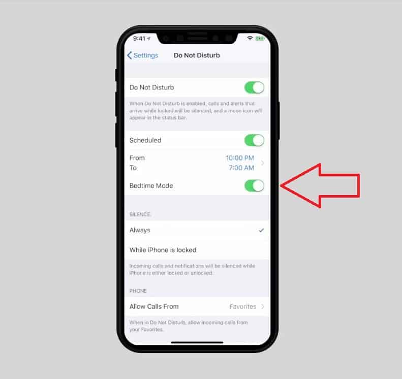 Bedtime Mode  - 3 bedtime - Hidden iOS 12 Tips to Avoid Annoying Notifications in the Middle of the Night