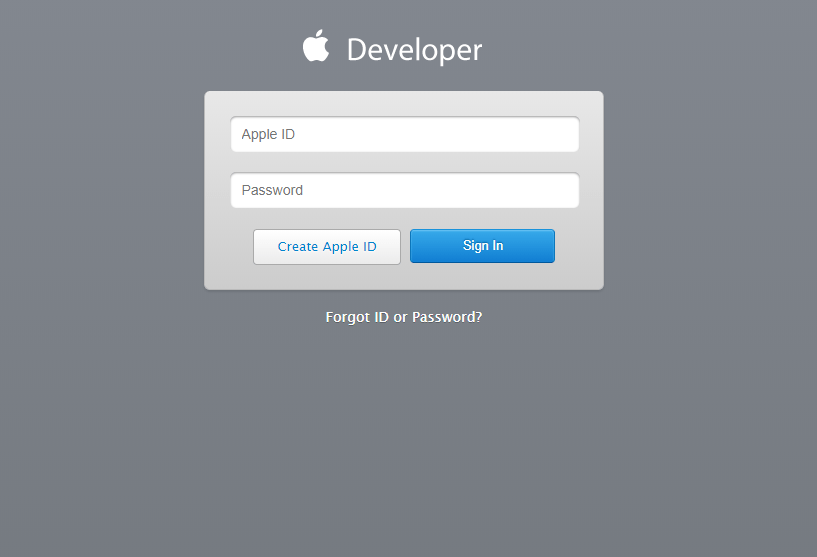 Where to sign in with Apple Developer ID
