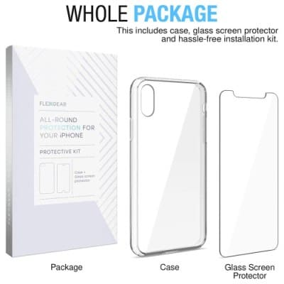 FlexGear iPhone Xs Clear Case