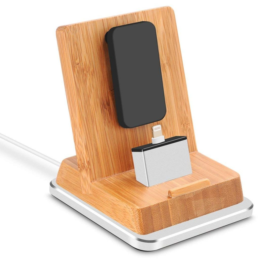 Best iPhone X Docking Stations Rerii Bamboo