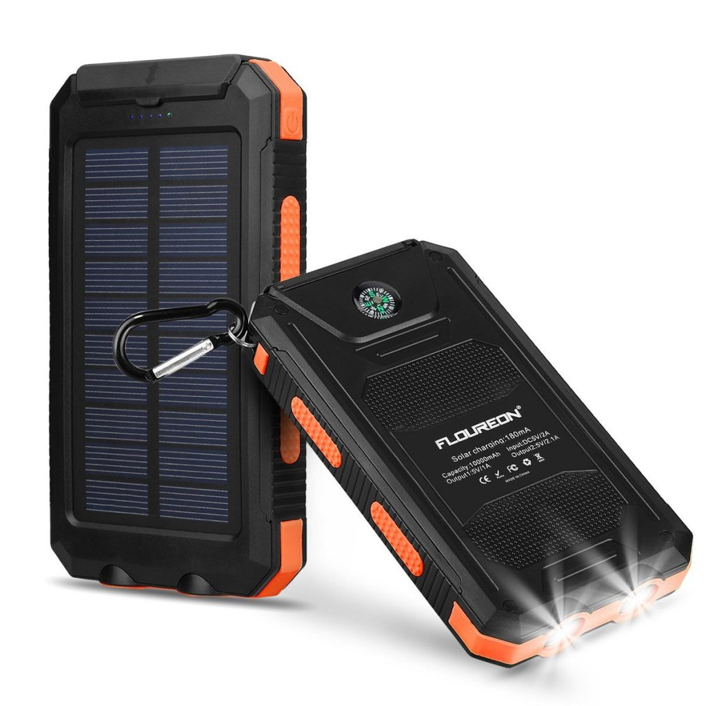 Best iPhone XS Solar Power Chargers Floureon