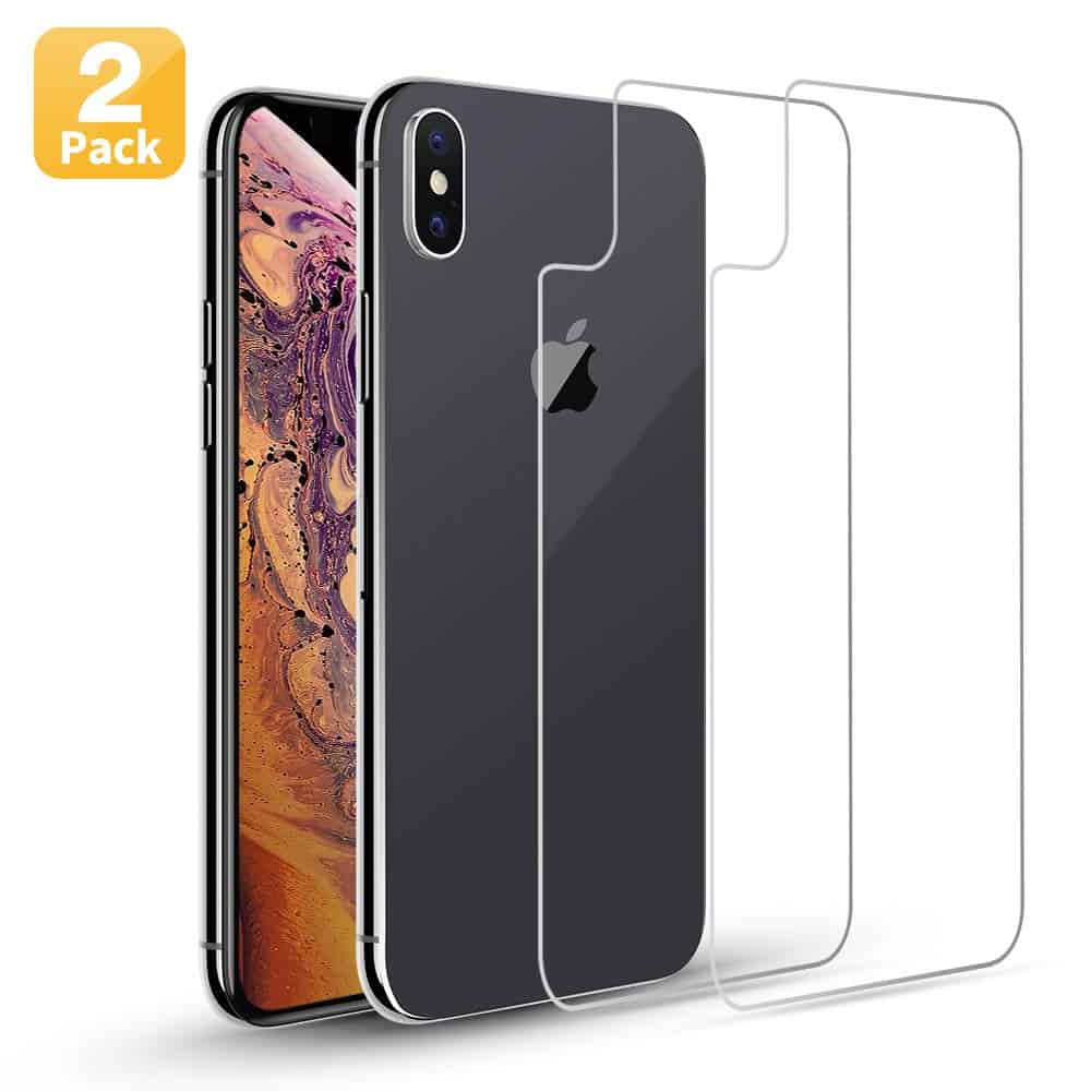 Maxdara Back Glass Screen Protector for iPhone XS max