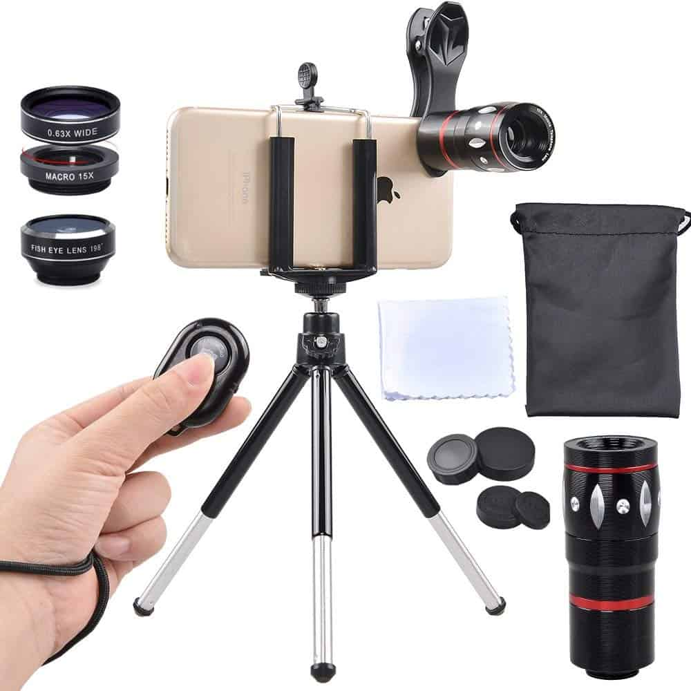 Apexel 5-in-1 Camera Lens Kit