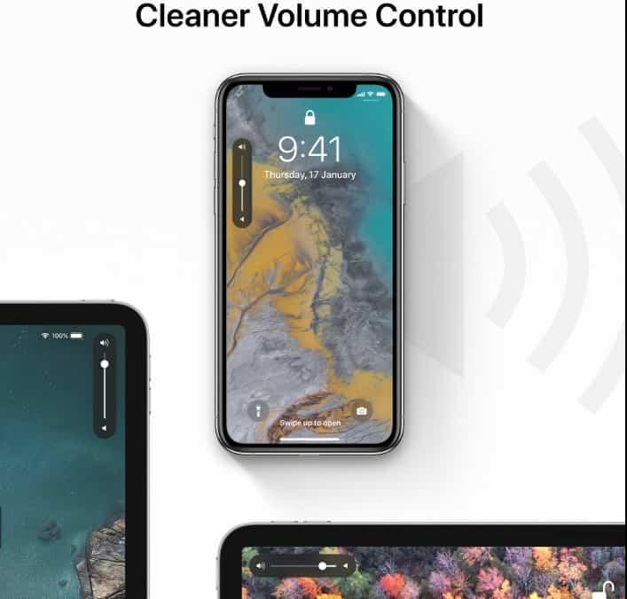 Redesigned Volume Control in iOS 13