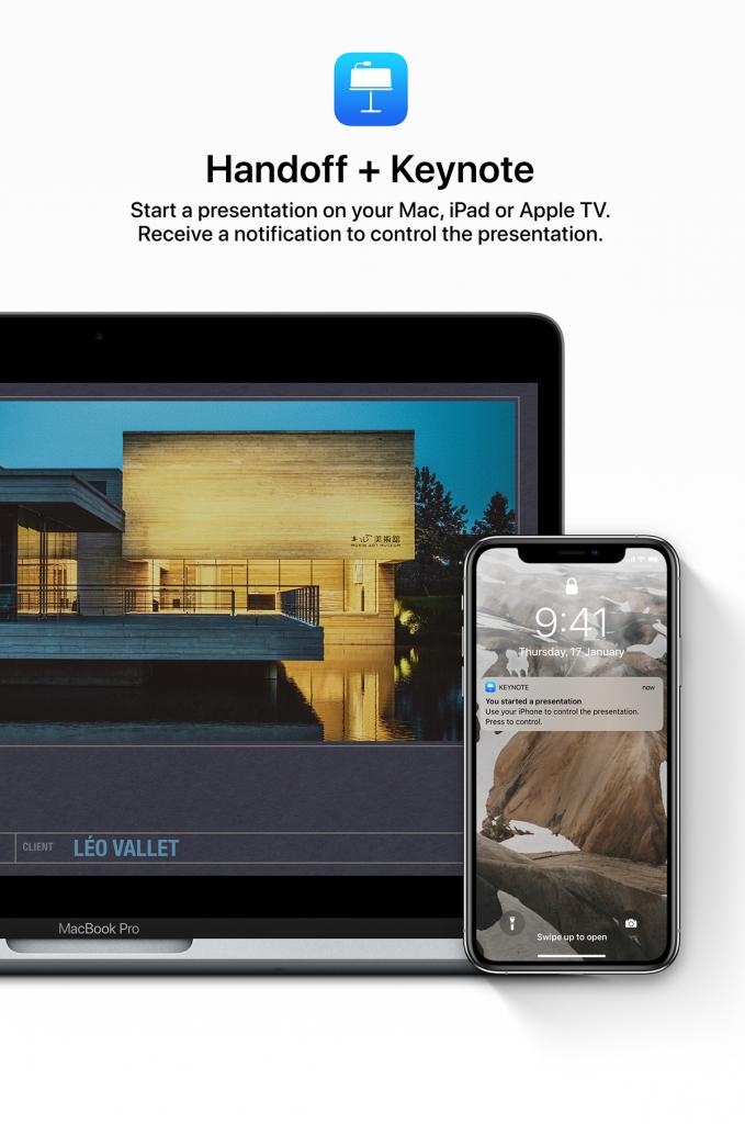 Handoff + Keynote in iOS 13
