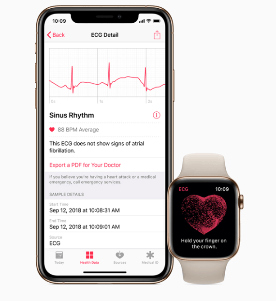 watchOS Introduces ECG App