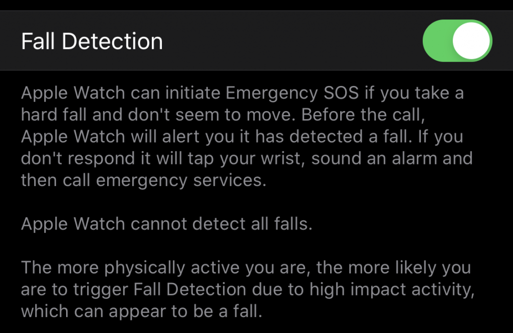 Detect When You Fall