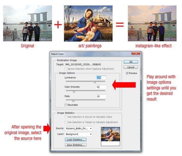 How to Cross Two images For A Color Effect