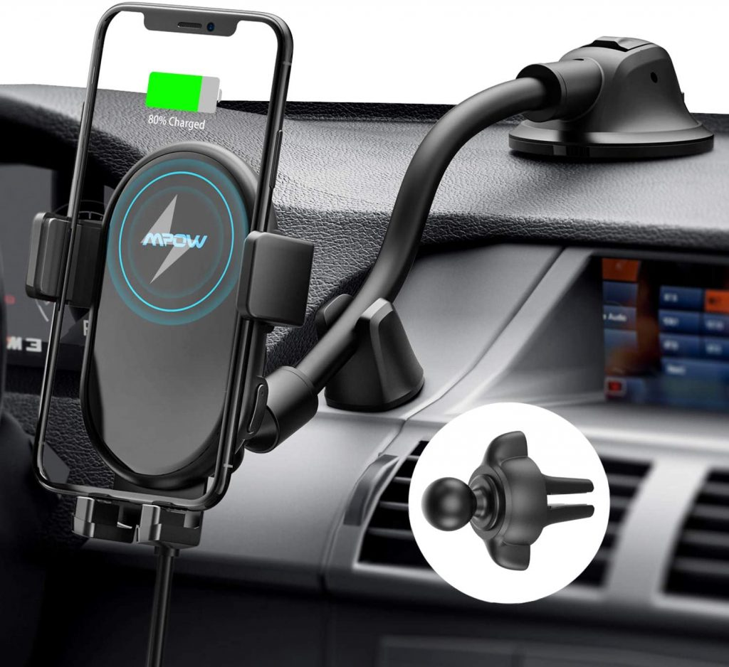 Mpow Car Phone Mount Wireless Charger