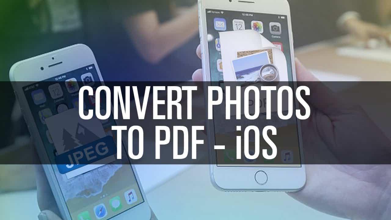 Convert Photos to PDF on iOS