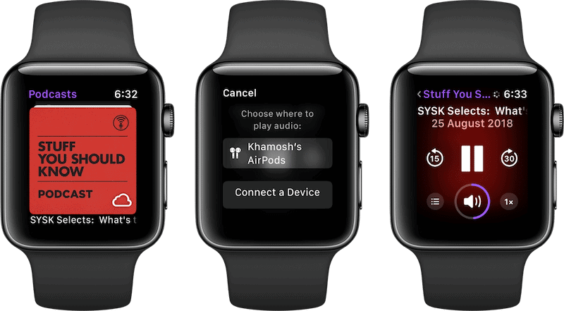 Apple Watch Podcast App