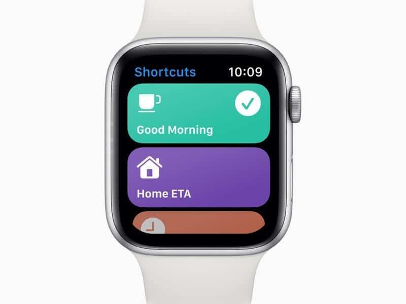 Shortcuts on Apple Watch