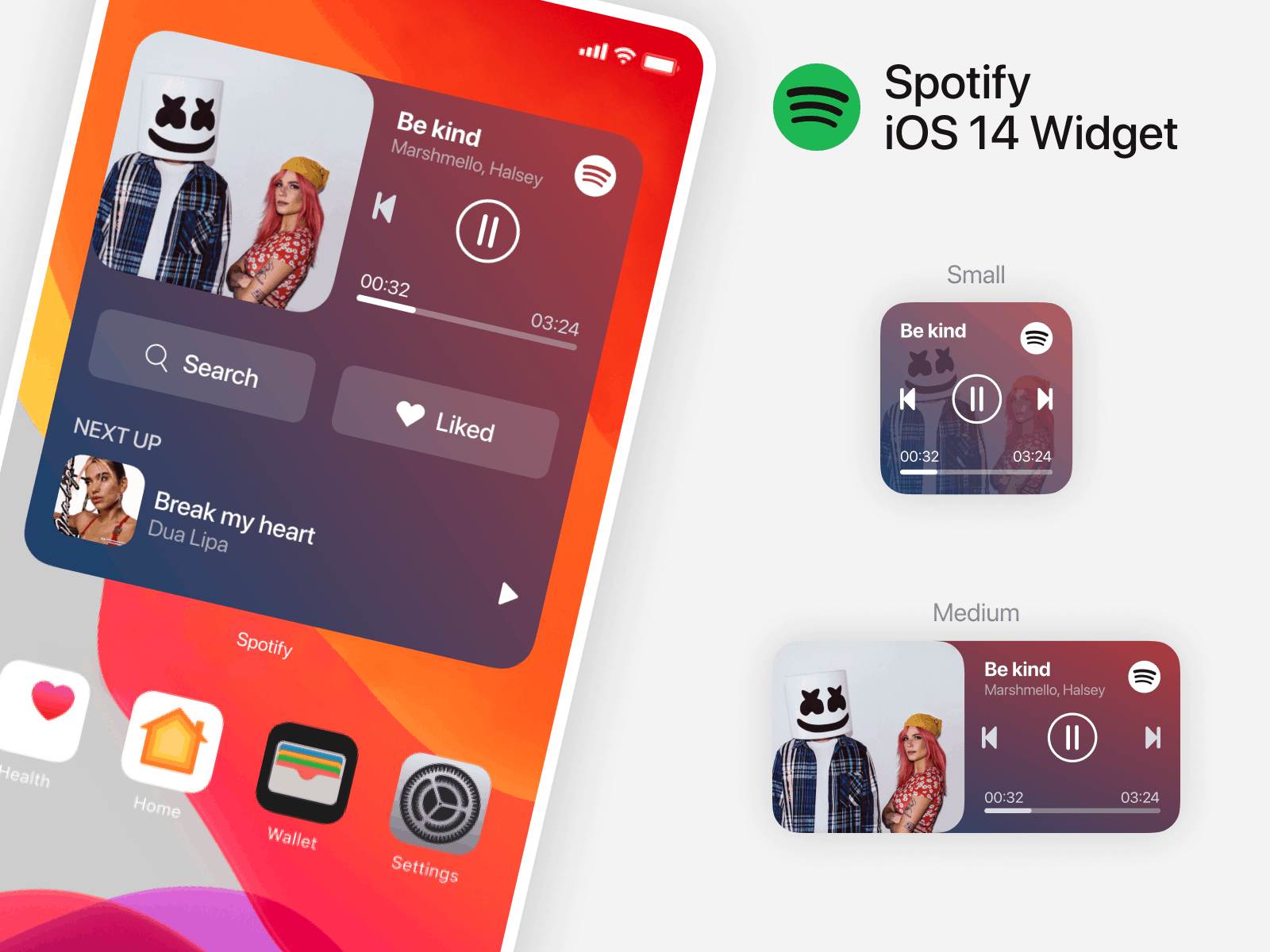Add Spotify Widget on iPhone